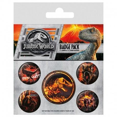 Pack Chapas Jurassic World Fallen Kingdom