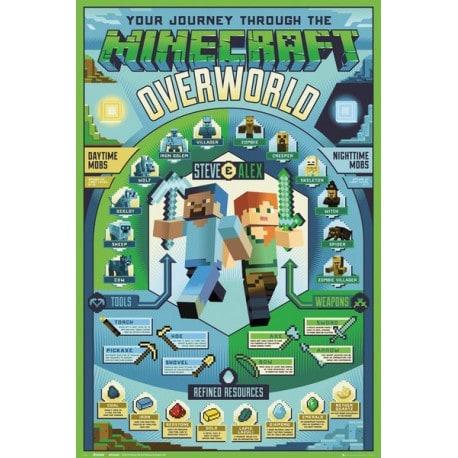Poster Minecraft Overworld Biome