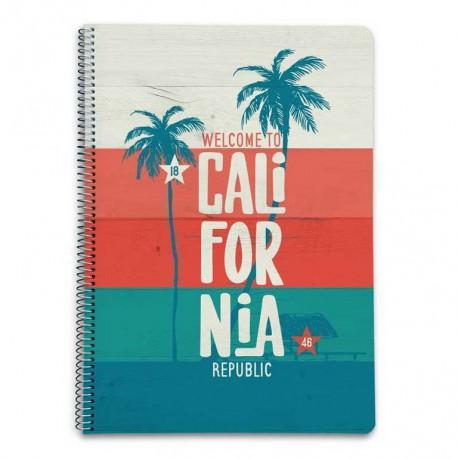 Cuaderno Tapa Dura A4 5X5 California