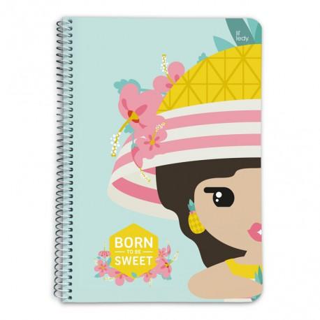 Cuaderno Tapa Dura A5 Lil Ledy Pineapple