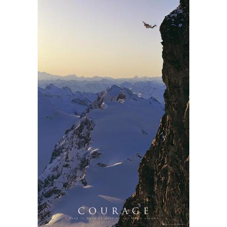 Poster Motivational Courage
