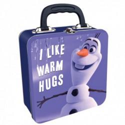 Caja Metalica Metal Cuadrada Disney Frozen Olaf