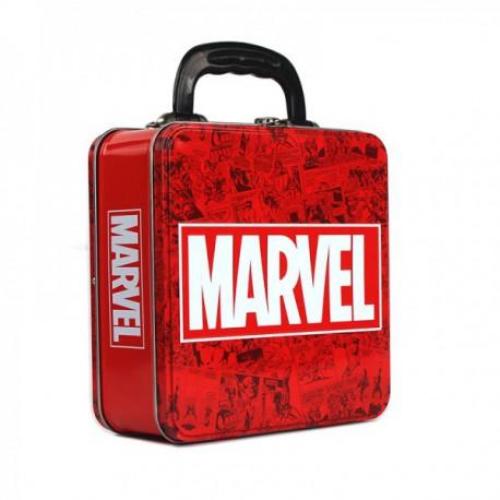 Caja Metalica Relieve Marvel Logo