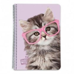 Cuaderno Tapa Dura A5 5X5 Studio Pets Cat Glasses