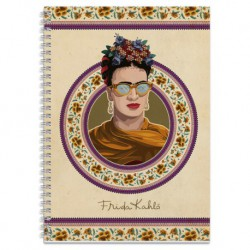 Cuaderno Tapa Forrada A4 5X5 Frida Kahlo