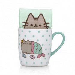 Set Taza Y Calcetines Mermaid Pusheen