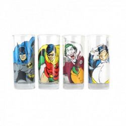 Vasos Set De 4 Dc Comics Batman