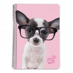 Cuaderno Tapa Dura A5 5X5 Studio Pets Dog Glasses