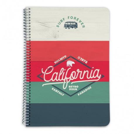 Cuaderno Tapa Dura A5 5X5 California