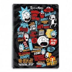 Cuaderno Tapa Dura A4 Pautado Rick & Morty