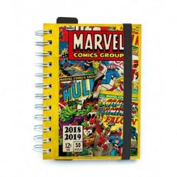 Agenda Escolar 18/19 Dia Pagina Wire-o Internacional Marvel