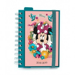 Agenda Escolar 18/19 Dia Pagina Wire-o Internacional Mickey Minnie