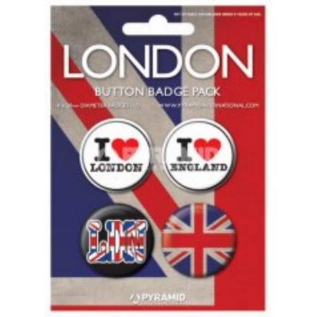 Pack Chapas London I Love