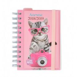 Agenda Escolar 18/19 Dia Pagina Wire-o Español Studio Pets Cat