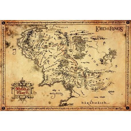 Poster El Señor de los Anillos Mapa Pergamino