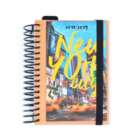 Agenda Escolar 18/19 Dia Pagina Espiral Español New York