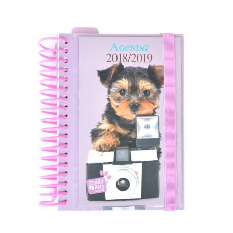 Agenda Escolar 18/19 Dia Pagina Espiral Español Studio Pets Dog