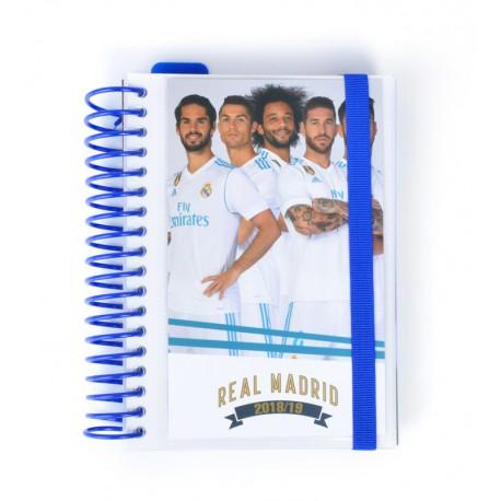 Agenda Escolar 18/19 Dia Pagina Espiral Español Real Madrid