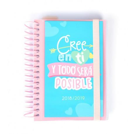 Agenda Escolar 18/19 Dia Pagina Espiral Español Carouge
