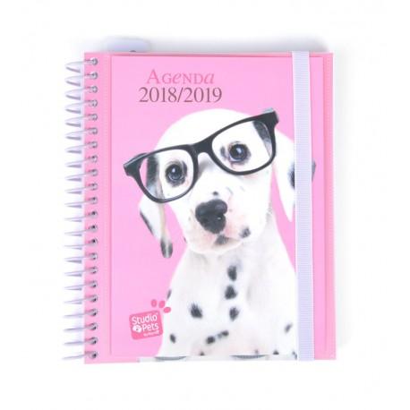 Agenda Escolar 18/19 Semana Vista Espiral Español Studio Pets Dog