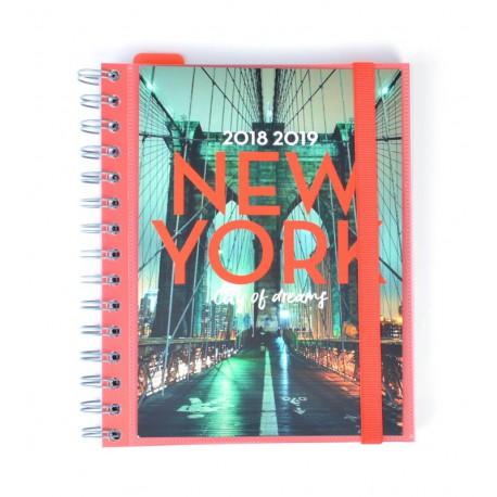 Agenda Escolar 18/19 Semana Vista Wire-o Español New York