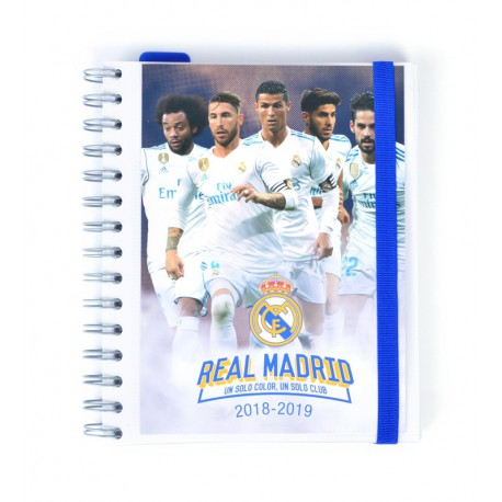 Agenda Escolar 18/19 Semana Vista Wire-o Español Real Madrid