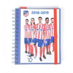 Agenda Escolar 18/19 Semana Vista Wire-o Español Atletico De Madrid