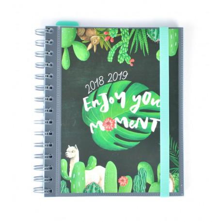 Agenda Escolar 18/19 Semana Vista Wire-o Internacional Enjoy Your Moment