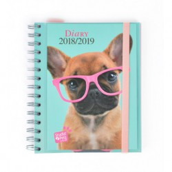 Agenda Escolar 18/19 Semana Vista Wire-o Internacional Studio Pets Dog