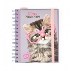 Agenda Escolar 18/19 Semana Vista Wire-o Internacional Studio Pets Cat