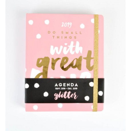 Agenda 18/19 Semana Vista Premium Glitter
