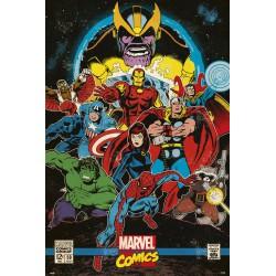 Poster Marvel Infinity Retro