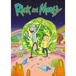 Poster Gigante Rick And Morty Portal