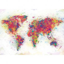 Poster Gigante World Map Color Splash