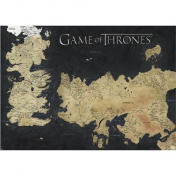 Poster Gigante Game Of Thrones Map Of Westeros & Essos