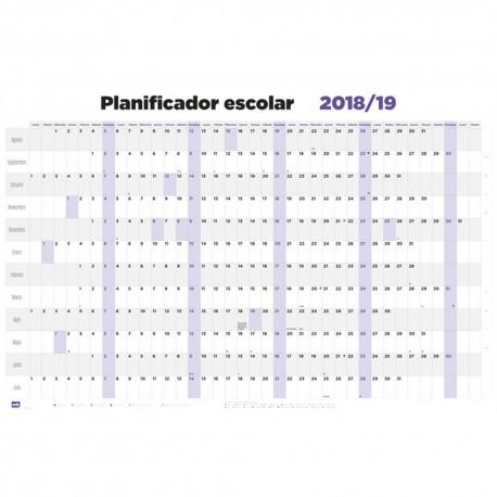 Poster planificador escolar 2018/2019 horizontal generico