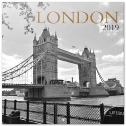 Calendario 2019 30X30 Londres B/W