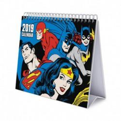 Calendario De Escritorio Deluxe 2019 Dc Comics