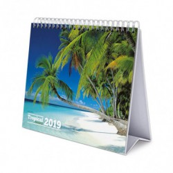 Calendario De Escritorio Deluxe 2019 Tropical Paradise