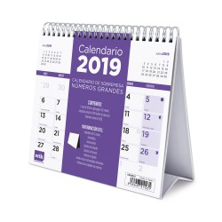 Calendario De Escritorio Deluxe 2019 Generico