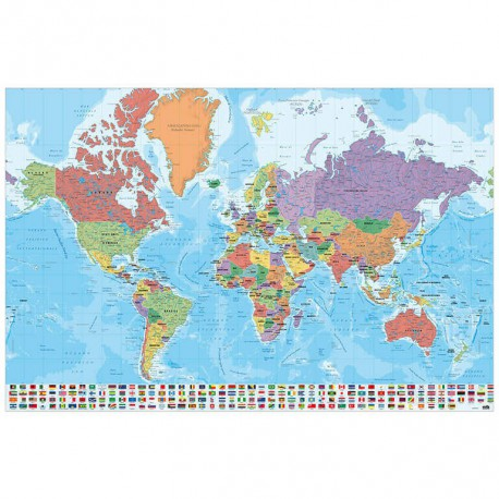 Poster Mapa Mundo Ita Fisico Politico