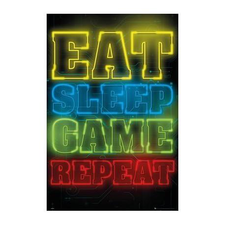 Poster Gaming Eat Sleep Game Repeat
