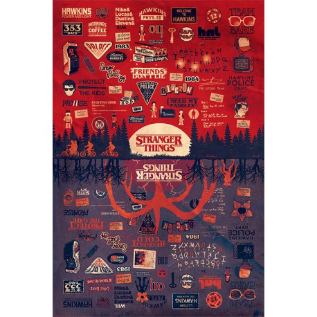 Poster Stranger Things The Upside Down