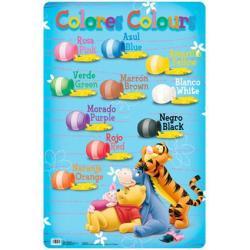 Lámina Educativa Colores Winnie The Pooh/Hfe
