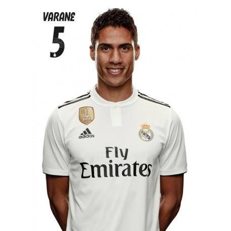 Postal Real Madrid 2018/2019 Varane Busto