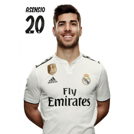 Postal Real Madrid 2018/2019 Asensio Busto