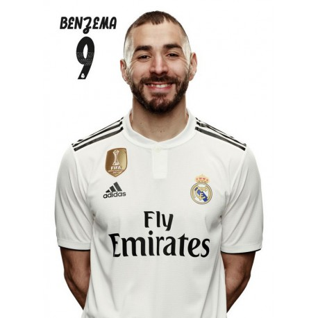 Postal Real Madrid 2018/2019 Benzema Busto