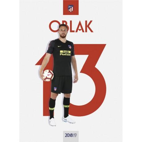 Postal Atletico De Madrid 2018/2019 Oblak