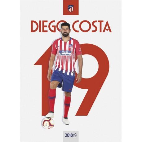 Postal Atletico De Madrid 2018/2019 Diego Costa
