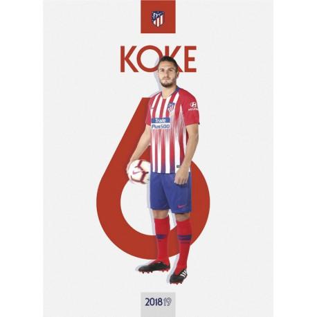 Postal Atletico De Madrid 2018/2019 Koke